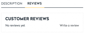 Product page review option