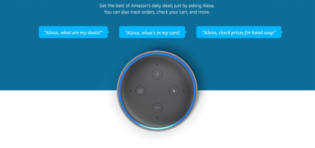 Amazon Alexa UI - contextual commerce